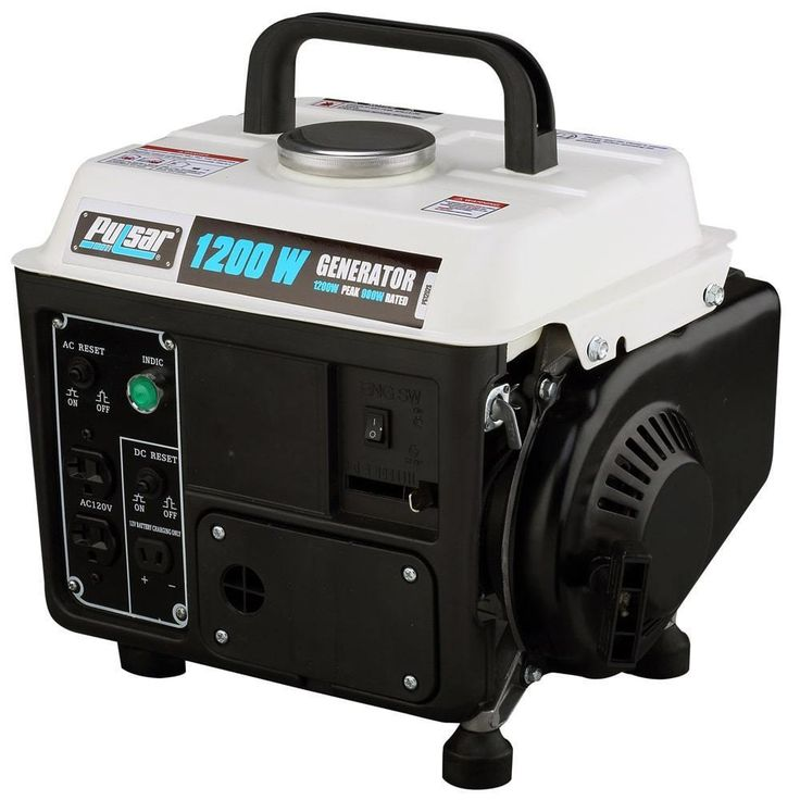 Portable Gas Generator Camping Outdoor Emergency Electric Small Quiet 1200 Watts #nonbranded