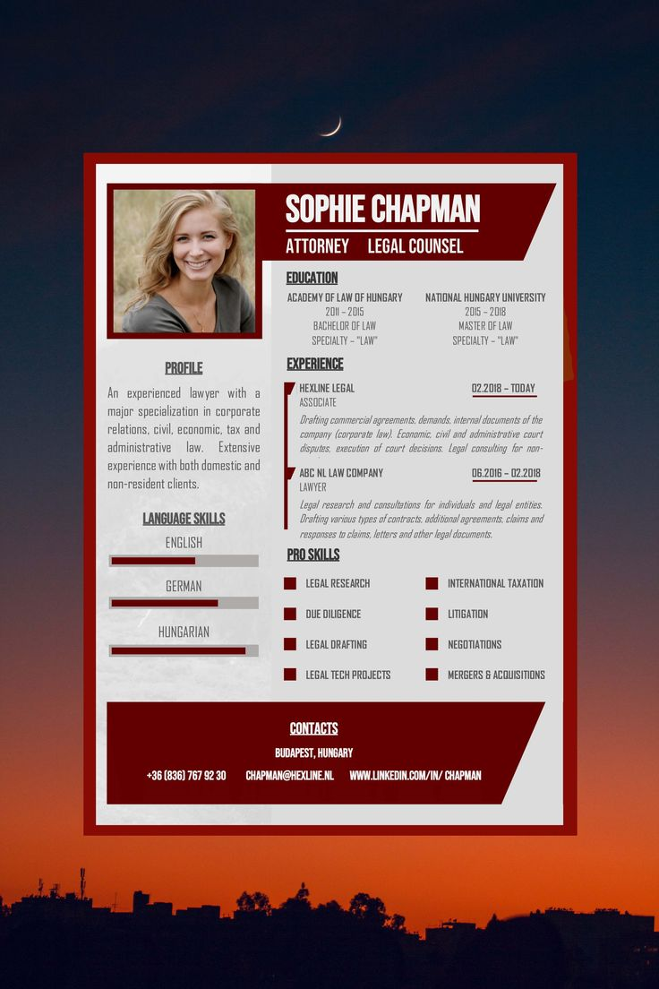 Beautiful resume cv in one page with matching cover