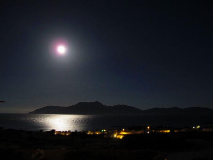 Keros Island, giving birth to the moon..