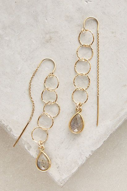 Alhambra Threaded Earrings #anthropologie