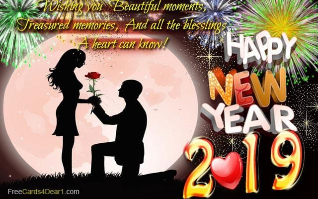 Ecard New Year 2019 With Love Wishes Happy New Year Quotes Happy New Year 2019 New Year Jokes