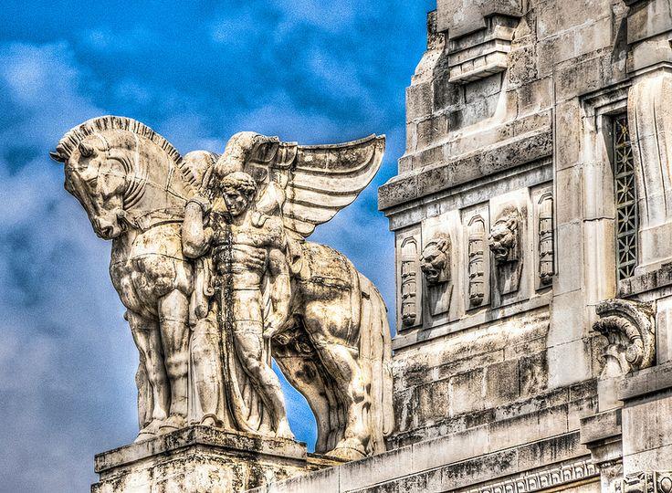Pegasus Statue on the Stazione di Milano Centrale - Milan Italy