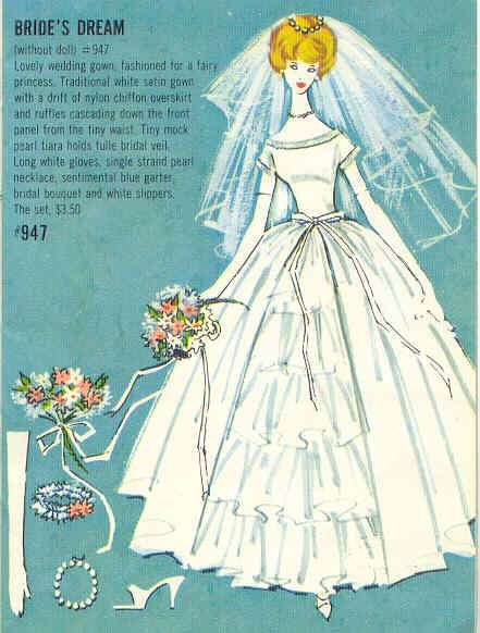"""Barbie's Dream Wedding"" with Ken, 1960's"