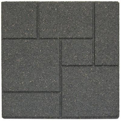 Envirotile Cobblestone 18 in. x 18 in. Grey Paver (70-Pack)-MT5001204 - The Home Depot