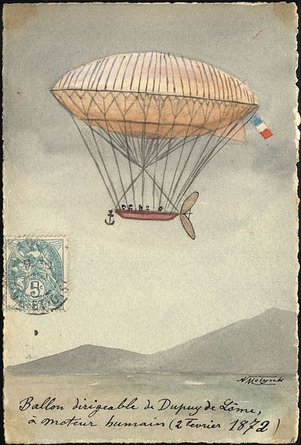 1872: De Lome's Airship #ballooning, #France