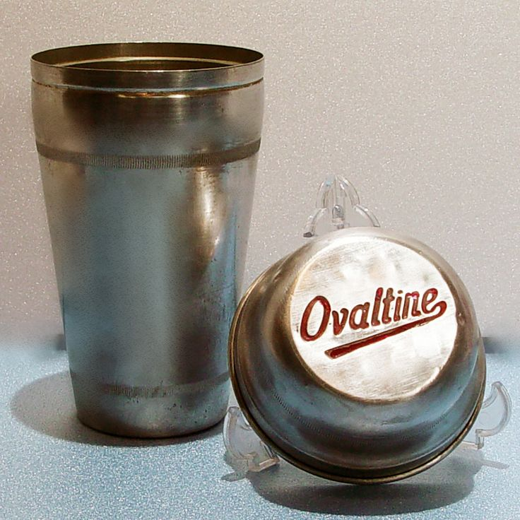 Vintage 1930's-1940's aluminum OVALTINE 2 pc. Chocolate Milk Shaker in VGC by GoodTimeProducts on Etsy