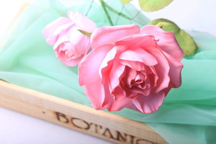 Foamiran: návod na růži