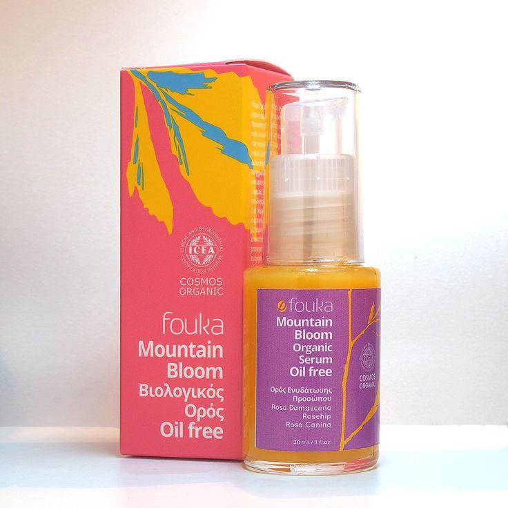 Mountain Bloom Organic Serum -Oil free- οξυγόνωση των κύτταρων για φωτεινή όψη με βιολογικό ροδόνερο, εκχυλίσματα rosehip και μπουμπουκιού οξίας 30ml - Πρόσωπο - Καλλυντικά