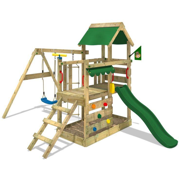Aire de jeux èxtérieur TurboFlyer avec une hauteur de plateforme 90cm. Wicky est le synonyme de qualité, variété et prix bas. Large choix de aire de jeux!