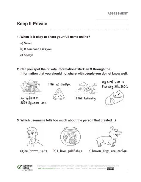 image about Free Printable Internet Safety Worksheets named Net protection worksheet for children Within My Cost-free Season
