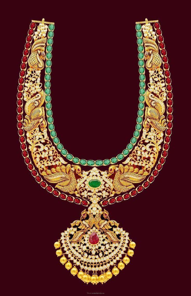 Gold Long Necklace Designs, Gold Antique Long Necklace Designs