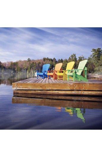 Fauteuil Adirondack en résine plastique recyclée  #chaises #chairs #fauteuil #jardin #garden