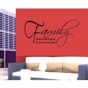 Family Quote Wall Decor Sticker