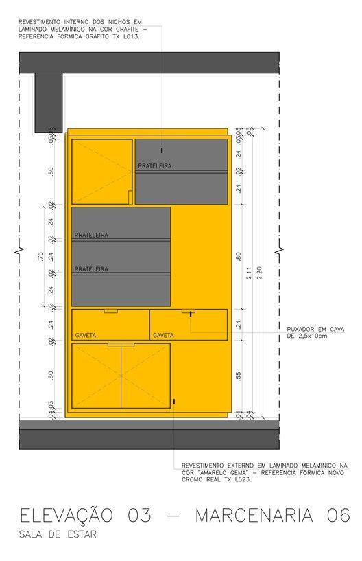 Galeria de reforma do apartamento reserva sa de stuchi for Imitazioni mobili design