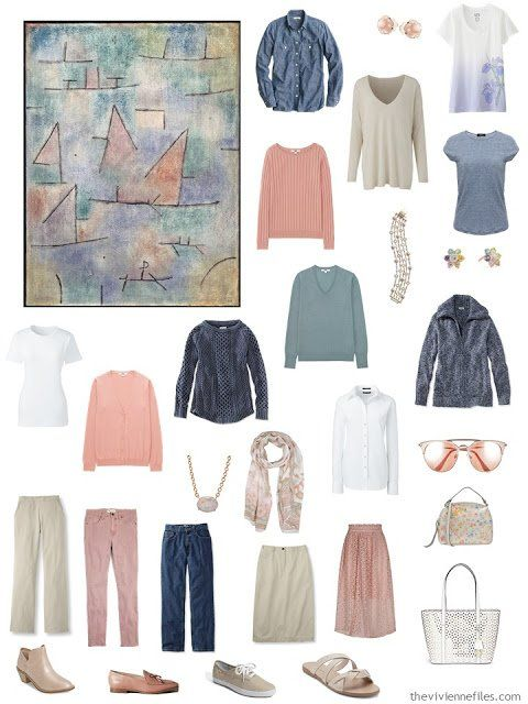 four ways to wear denim and khaki in a capsule wardrobe start with art things to wear pinterest mode and capsule