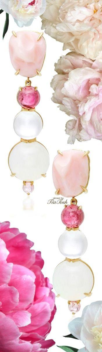 ❇Téa Tosh❇ 18K yellow gold, opal, tourmaline, pink quartz, chalcedony