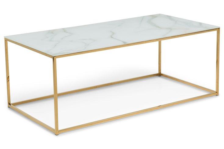 Nelly Soffbord 120x60 cm Marmorglass