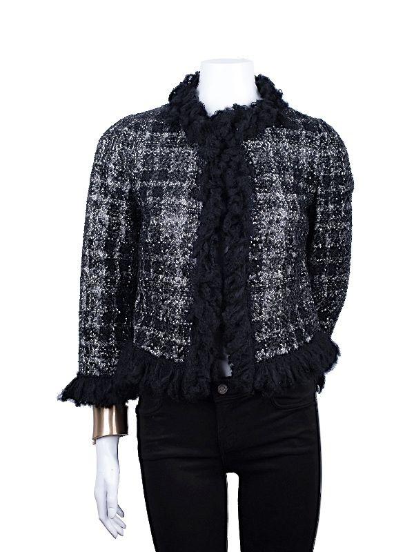 Giambattista Valli Luxurious Tweed Sequin Jacket