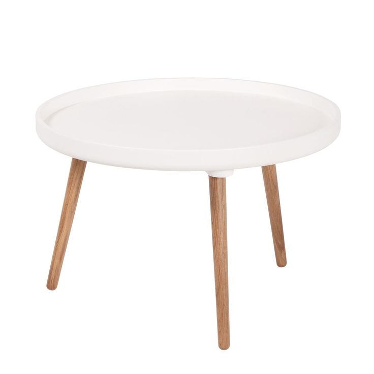 Petite table basse blanche for Petite table ronde blanche