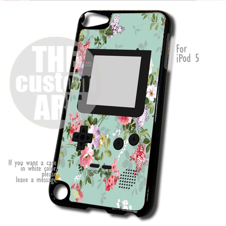 Mint Floral Gameboy case for iPod 5 | TheCustomArt - Accessories on Bonanza