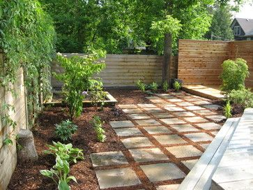Backyard Ideas to Delight Your Dog    Choose comfortable materials. Landscaping materials shouldn't get too hot, should be easy to walk on and ideally should not cling to fur and feet. Concrete, brick, flagstone, pebbles and smooth rocks are all good choices.Mulch (except cocoa mulch) and small bark chips are dog friendly and won't heat up too much, though you'll have to replace them periodically.