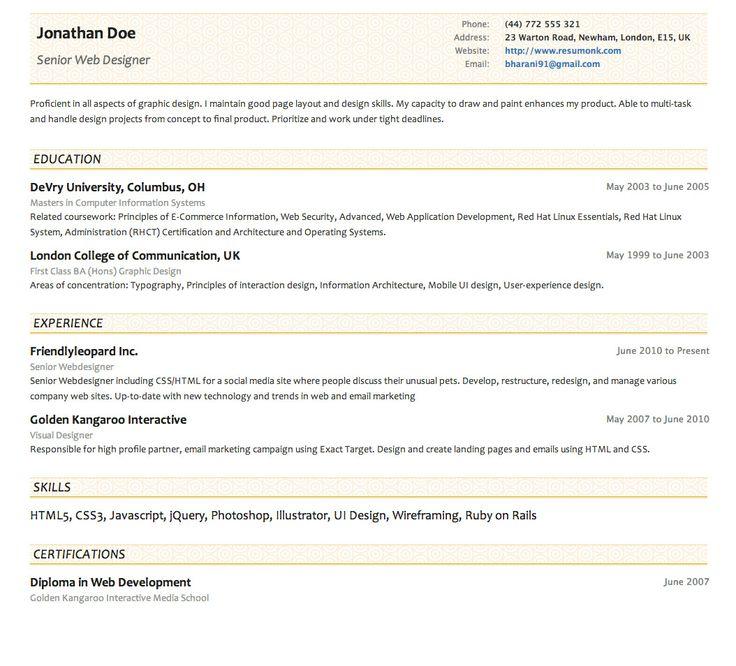 Awesome Concise Resume Sample Elaboration Resume Ideas Namanasa Com