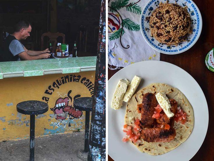 Typical Nicaraguan food at La Esquinita Caliente in Moyogalpa on Isla de Ometepe in Nicaragua | heneedsfood.com