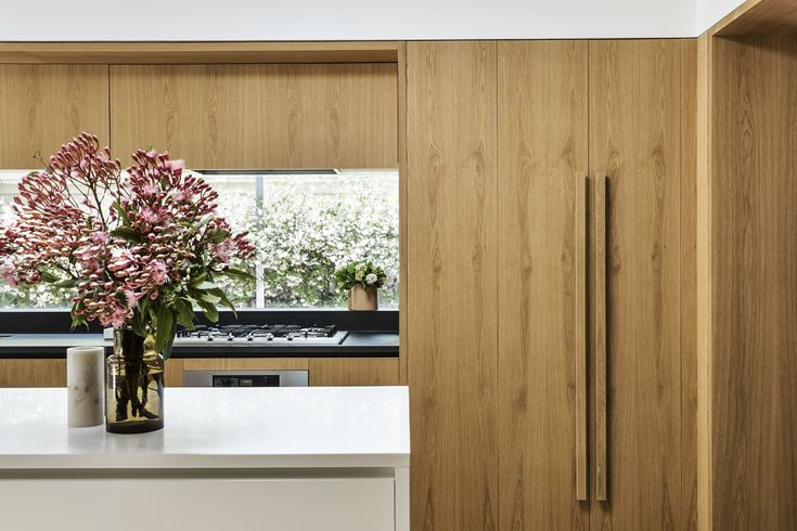 Wood kitchen in an art deco home renovation by Madeleine Blanchfield Architects |  Photo by Robert Walsh | DPAGES