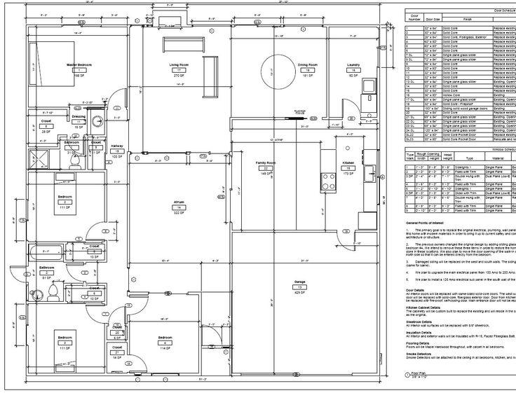 Eichler atrium floor plan