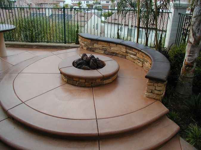 Terra Cotta Rock Bench Outdoor Fire Pits Surfacing