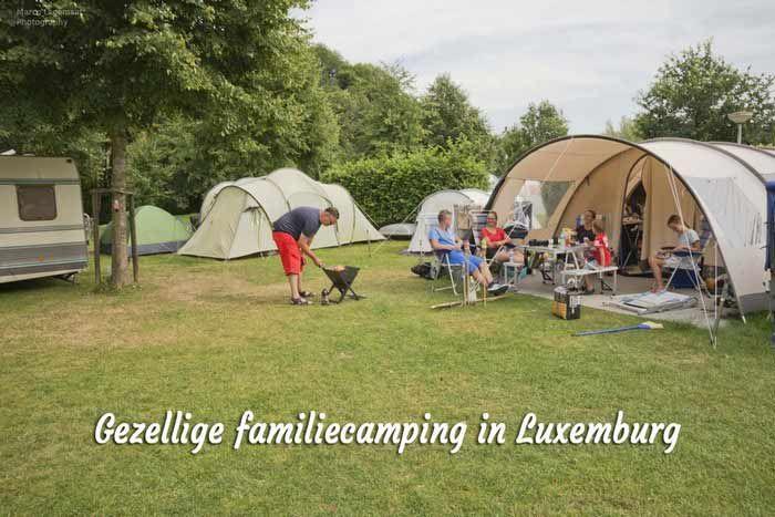 Kamperen in Luxemburg op gezellige familiecamping Val d'Or.