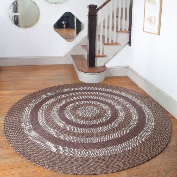 Complete your home decor with a Middletown area rug Transitional rug is constructed of 100-percent polypropylene Rug displays shades of brown