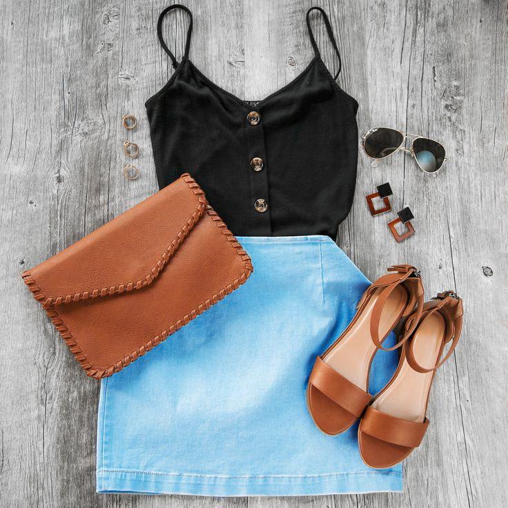 Just Right Denim Skirt – Fashion