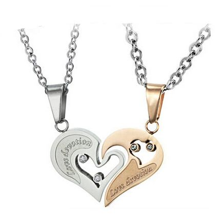 Find More Pendant Necklaces Information about New Fashion Necklaces pendant 2015 white rose gold love titanium lovers necklace,High Quality necklace steel,China necklace blood Suppliers, Cheap necklace bra from NIBA Jewelry  on Aliexpress.com