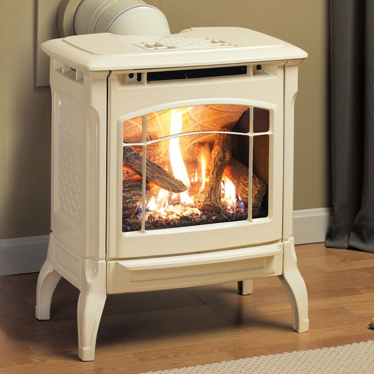 Hearthstone Stowe Gas Stove In Oyster Enamel For The Granary