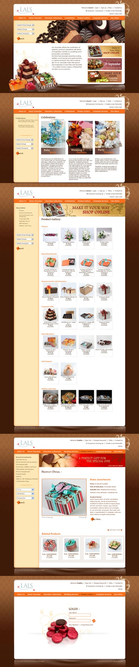 Ecommerce website designed and developed for lals Chocolate