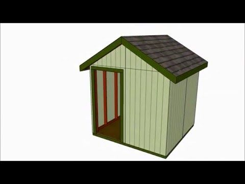 8x8 Shed Plans | MyOutdoorPlans | Free Woodworking Plans and Projects, DIY Shed, Wooden Playhouse, Pergola, Bbq