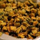 Bhindi Bhaji (Fried Stuffed Okra) - wrong photo