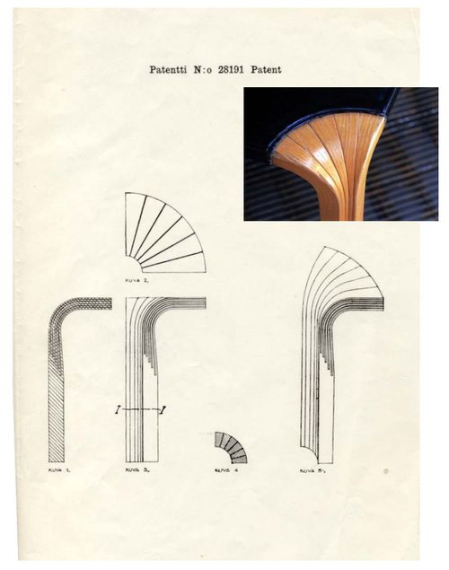 infiniteinterior:    Alvar Aalto's patent for bent-wood furniture leg, 1946