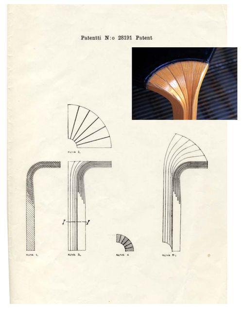 infiniteinterior:    Alvar Aalto's patent for bent-wood furniture leg, 1946