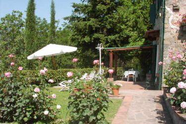 The garden of Casa Uva, near Lucca, Tuscany.