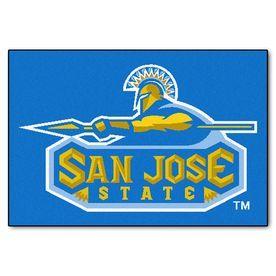 Fanmats San Jose State University Rectangular Indoor Machine-Made Sports Throw Rug (Common: 1-1/2 X 2-1/2; Actual: 1.583