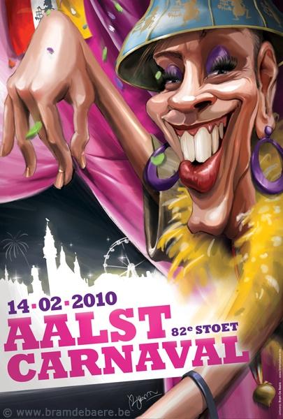 Poster announcing Oilsjt Carnaval 2010