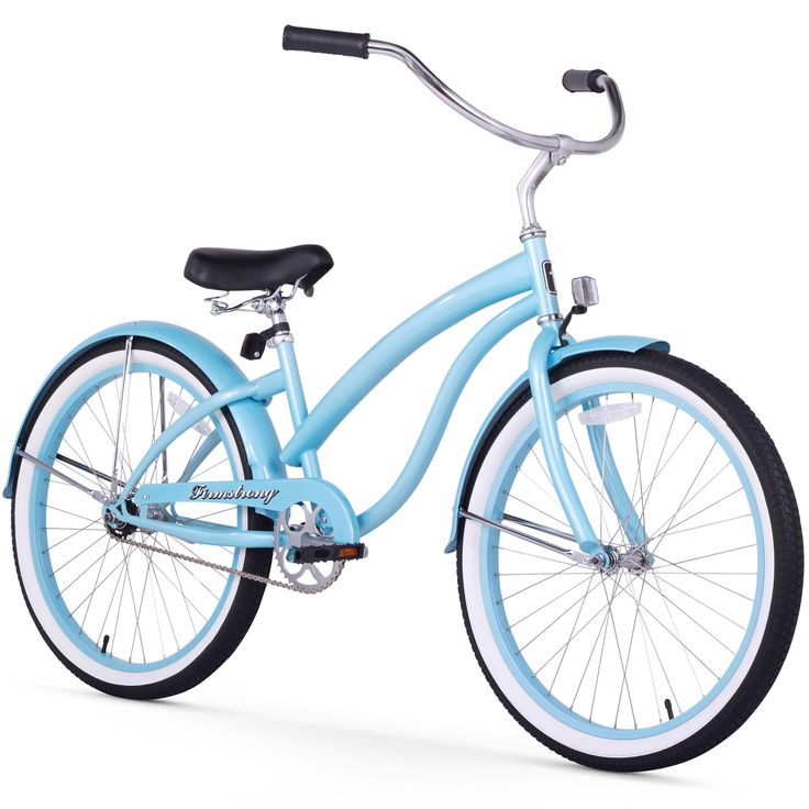 """24"""" Firmstrong Bella Classic Single Speed Women's Beach Cruiser Bicycle, Baby"""
