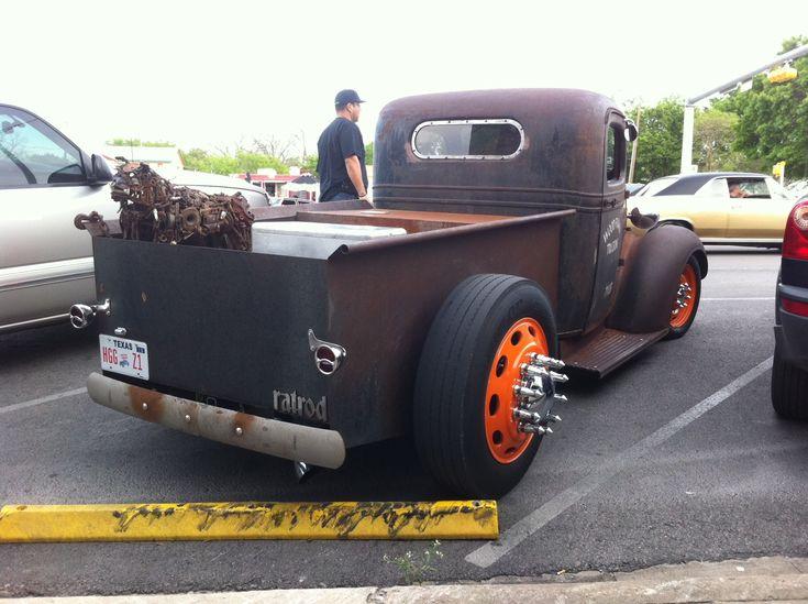 rat rod trucks   Diesel Rat Rod Truck at Lonestar Roundup rear