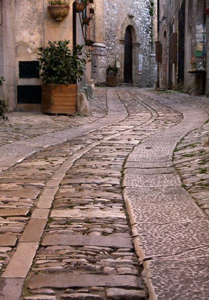 Cobblestone Art, Erice, Sicily