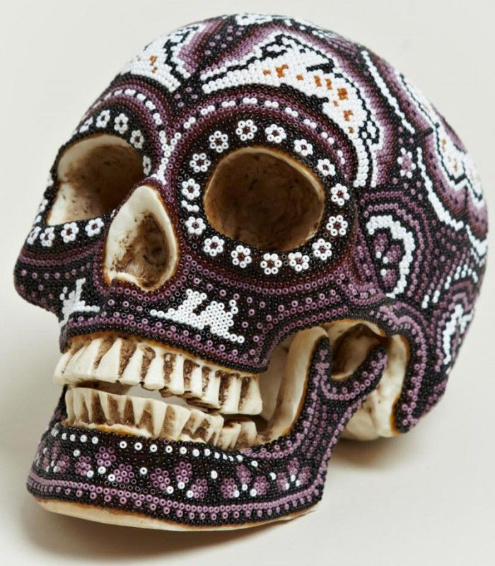 Our Exquisite Corpse   Huichol Beaded Skulls trend forecasts inspiration