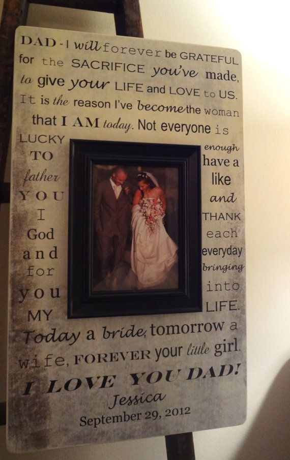 Letter to Dad Father of the Bride...or right now!!! I want this for my dad!