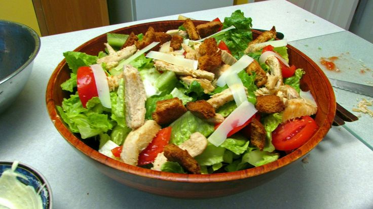 Refreshing Chicken Caesar Salad