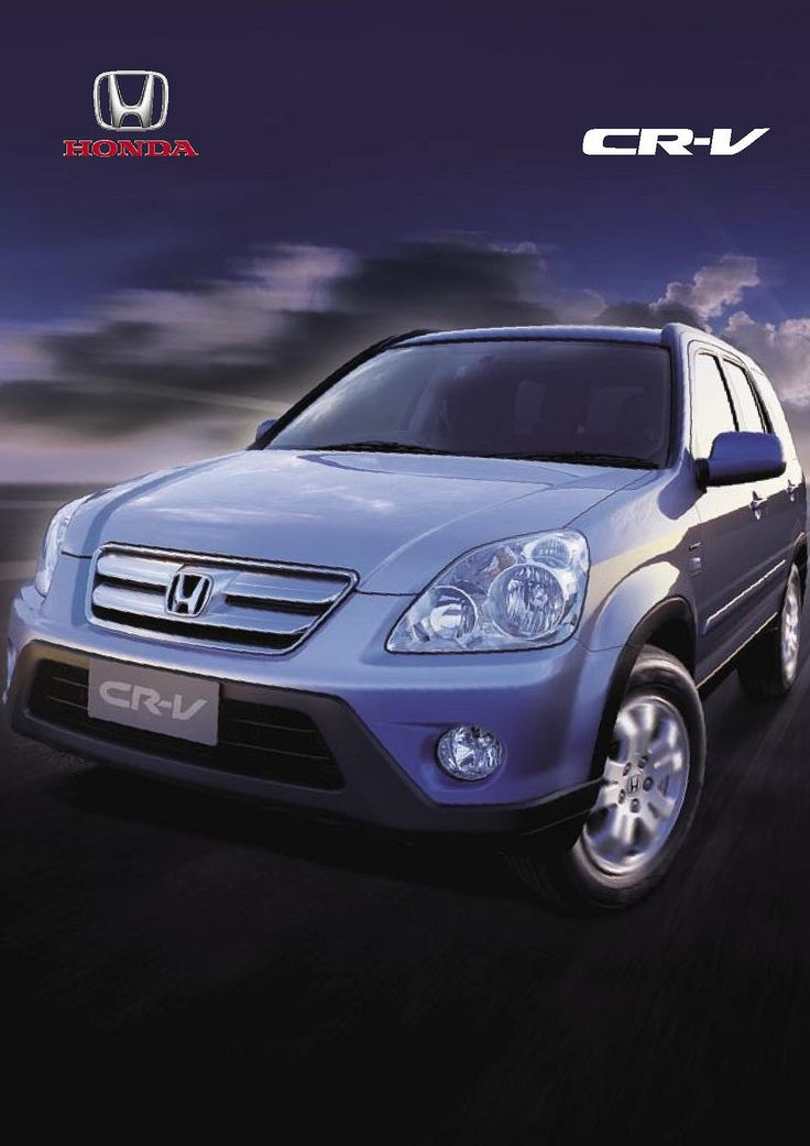 Honda CR-V Mk2 New Zealand Brochure 2005